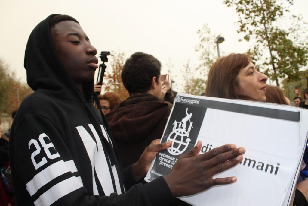 Jóvenes participantes en la Semana por los Derechos de la Juventud 2014.