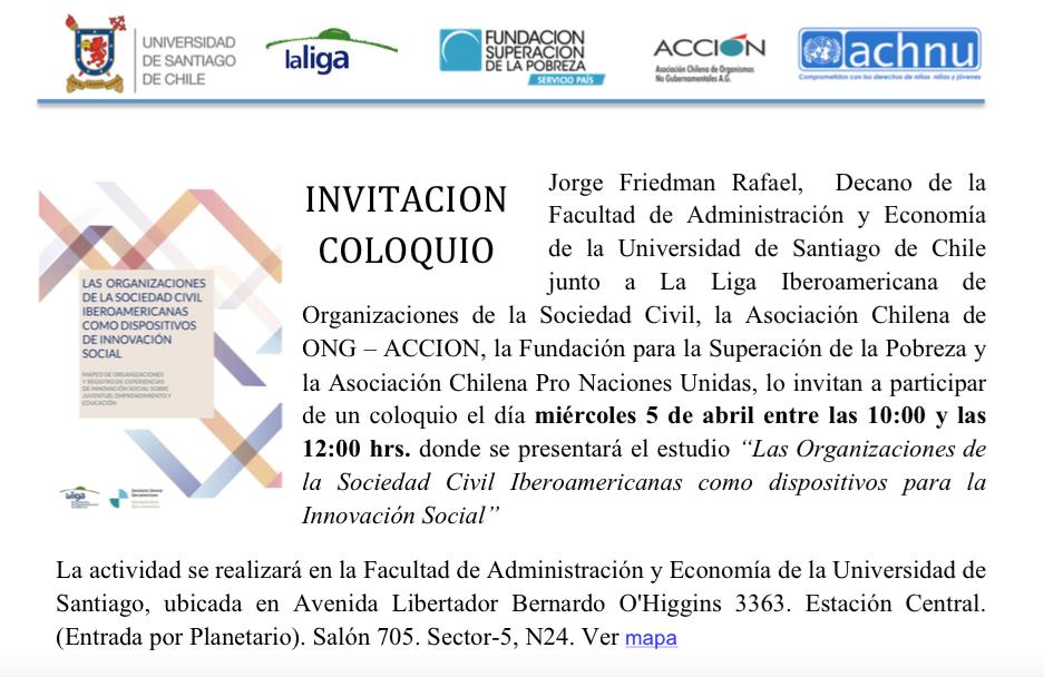 Presentación del Estudio de Innovación Social en Chile en abril
