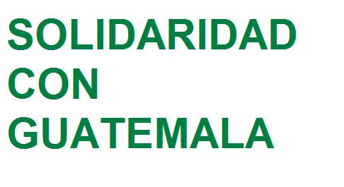 Solidaridad con Guatemala. Profundo dolor por la vulneración de derechos de las niñas
