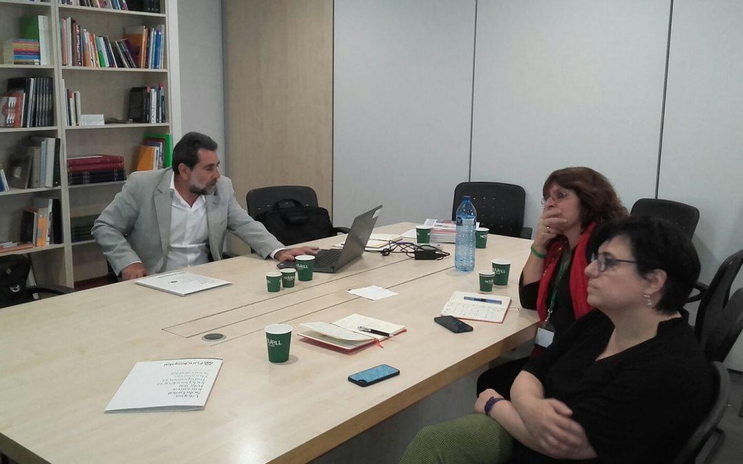 Enrique Deibe visita Fundación Esplai en el marco de una visita de trabajo a España