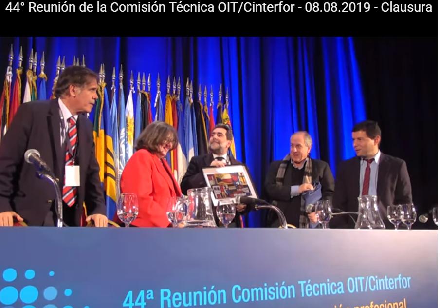 La Liga participa en la 44ª reunión de la Comisión Técnica de CINTERFOR en Uruguay